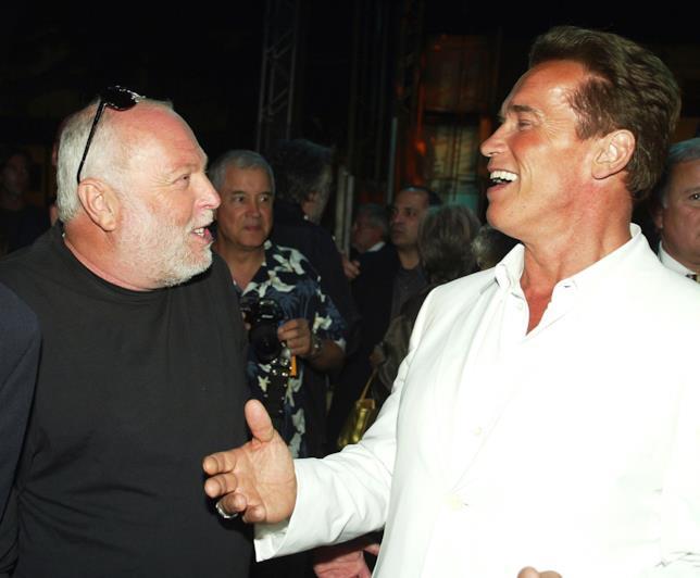 Arnold Schwarzenegger insieme a Andy Vajna