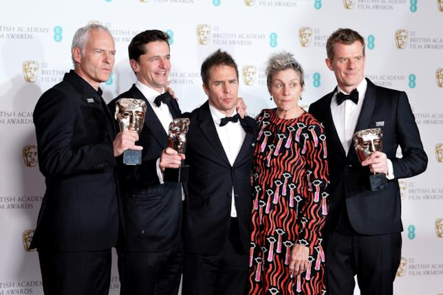 Il cast di Tre Manifesti a Ebbing, Missouri stringe i BAFTA vinti