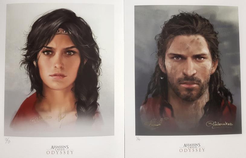 Kassandra e Alexios in concept art da Assassin's Creed Odyssey
