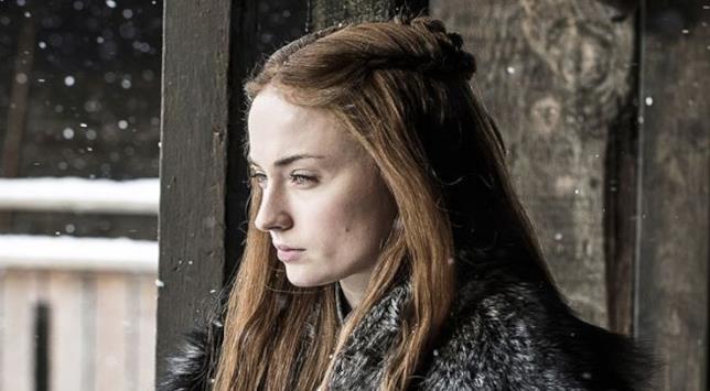 Sansa Stark accigliata a Grande Inverno ne Il Trono di Spade 7