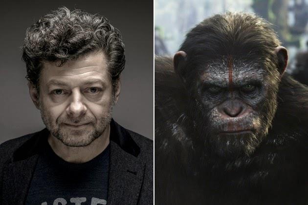 Andy Serkis nel ruolo di Cesare de Il Pianeta delle Scimmie