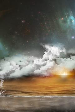 Cooper di spalle su un pianeta in un poster del film
