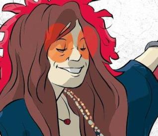 La cover del fumetto su Janis Joplin di Giulia Argnani