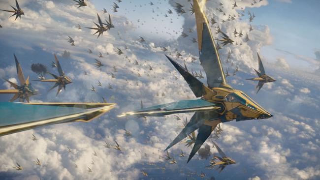 Una scena del film Guardiani della Galassia