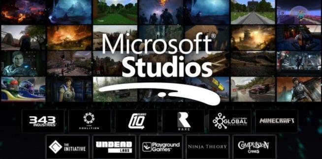Un'immagine rappresentativa dei Microsoft Studios e delle esclusive Xbox