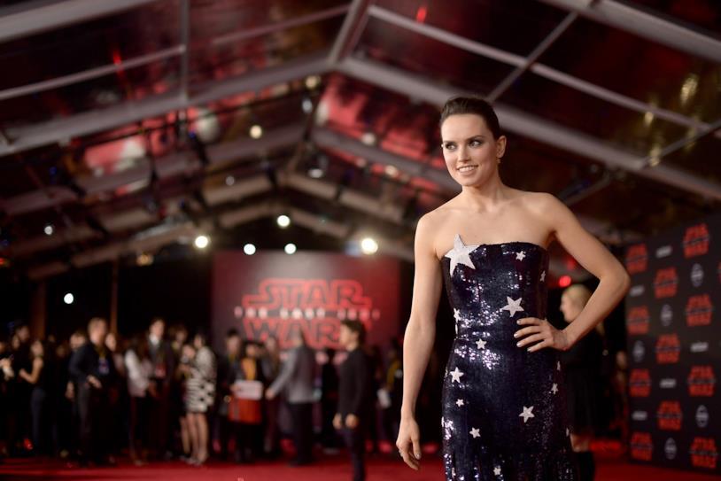 Daisy Ridley, interprete di Rey nella saga di Star Wars