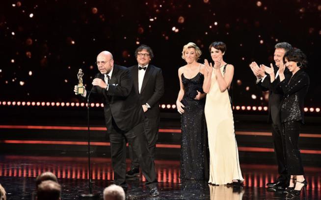 Il cast di La pazza gioia vince ai David di Donatello