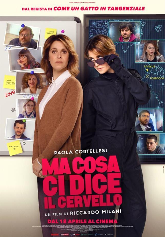 Il poster ufficiale di Ma cosa ci dice il cervello, la nuova commedia con Paola Cortellesi