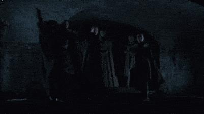 GIF dei tre fratelli Stark mentre si preparano allo scontro