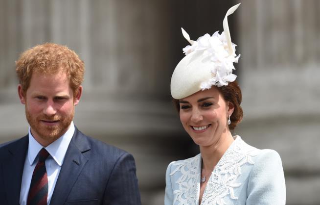 Primo piano di Harry e Kate Middleton