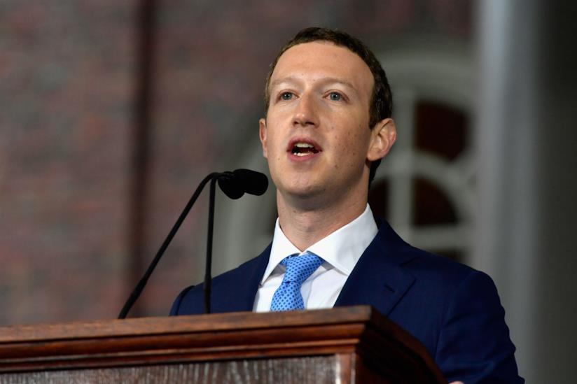 Mark Zuckerberg durante un discorso pubblico