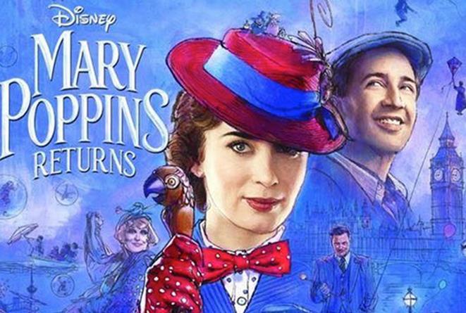 Poster promozionale di Il ritorno di Mary Poppins