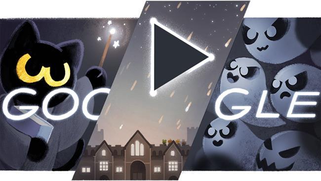 Google Doodle di Halloween 2016
