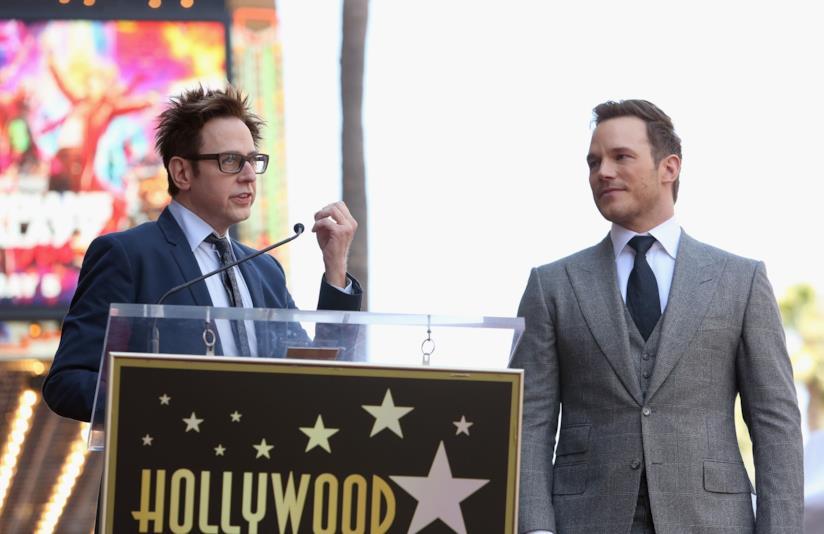 Chris Pratt e James Gunn sulla Hollywood Walk of Fame