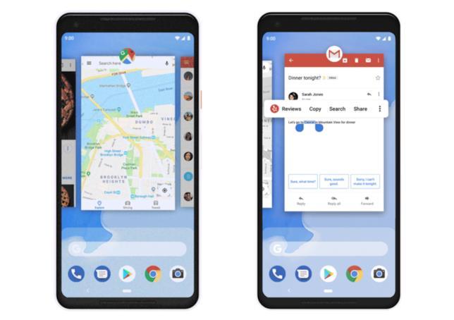 Come muoversi orizzontalmente tra le app e utilizzarne più di una in un'unica schermata.
