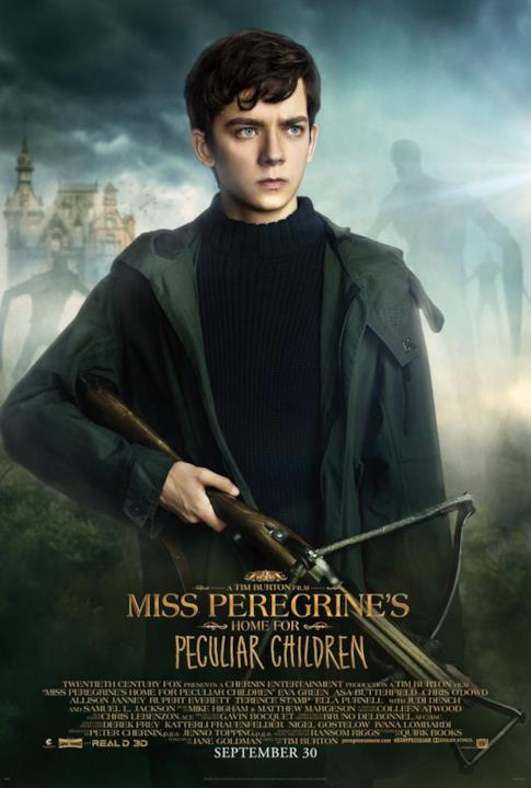 Asa Butterfield nel character poster di Miss Peregrine