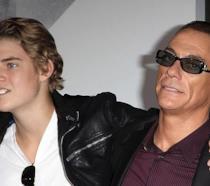 Jean-Claude Van Damme con il figlio Nicholas