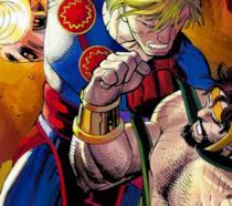 Un'immagine dai fumetti Marvel dedicati a Gli Eterni a cura di John Romita Jr.