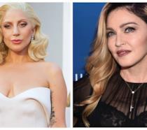 Primo piano di Lady Gaga e Madonna
