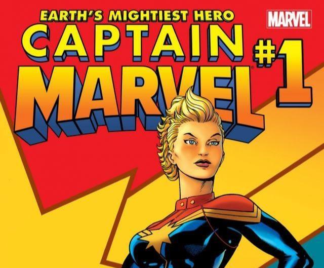 Dettaglio della cover di Captain Marvel #1