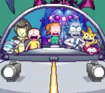 Il cast di Rick & Morty in versione 8-bit