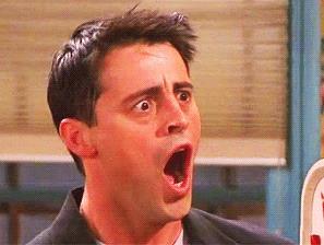 Joey Tribbiani a bocca spalancata
