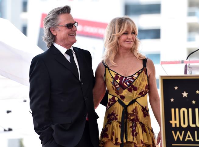 Primo piano di Goldie Hawn e Kurt Russell