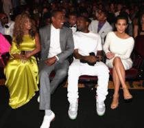 Un'immagine di Beyoncé, Jay Z, Kanye West e Kim Kardashian