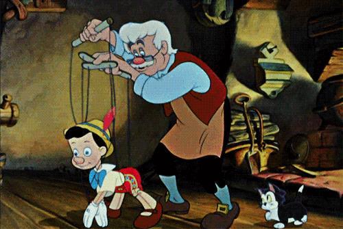 Una scena di Pinocchio