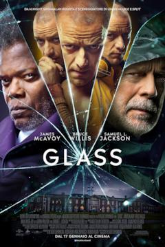 I protagonisti di Glass nel poster italiano del film