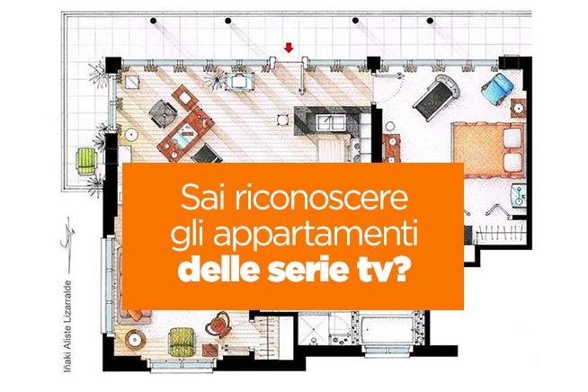 Sai riconoscere gli appartamenti delle serie tv for Planimetrie popolari