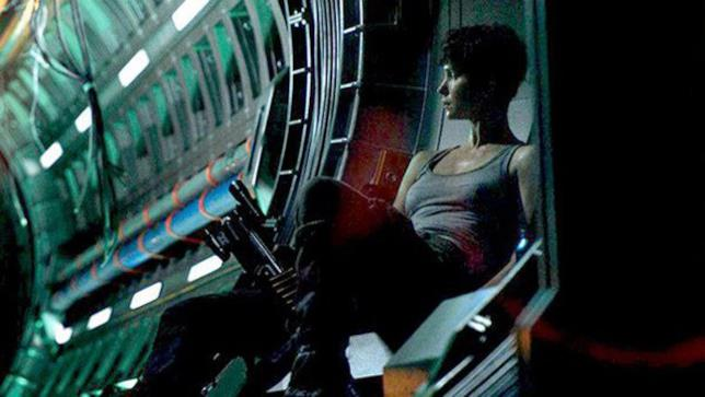 Katherine Waterston sul set di Alien: Covenant