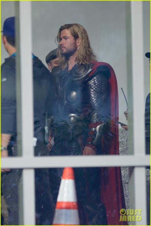 Chris Hemsworth sul set di Avengers 4