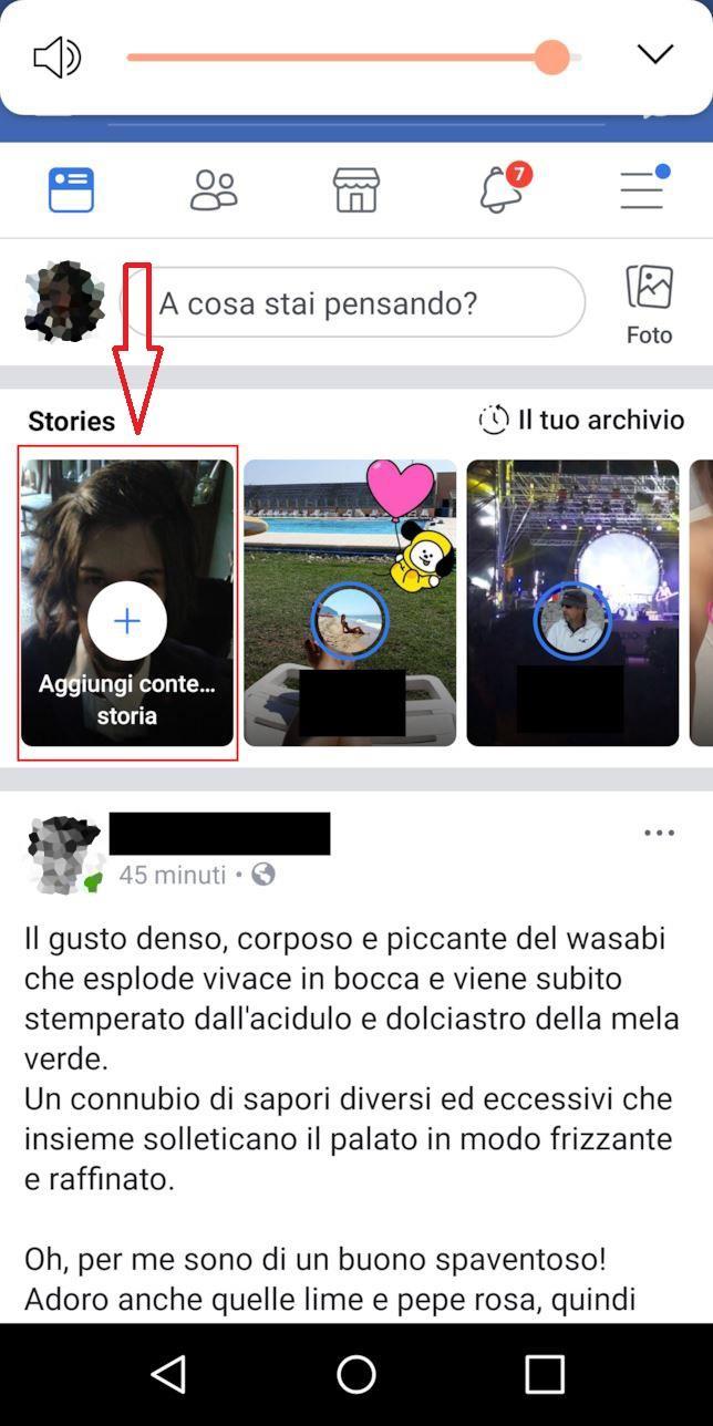 Home di Facebook