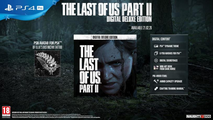 The Last of Us Part 2 in Digital Deluxe Edition
