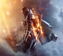 Un artwork ufficiale di Battlefield 1 con un soldato