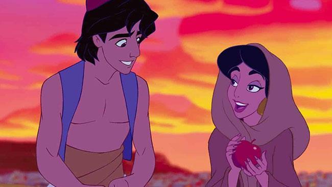 Jasmine parla con Aladdin