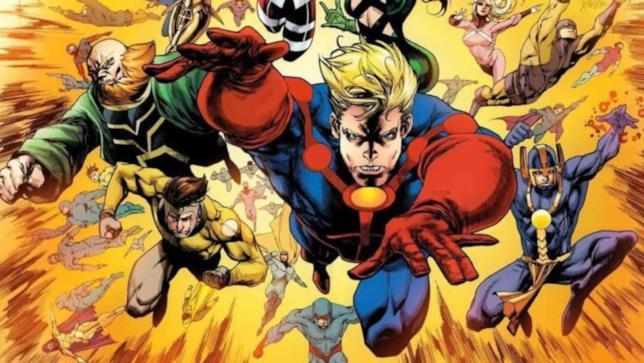 Illustrazione degli Eterni, dai fumetti Marvel Comics