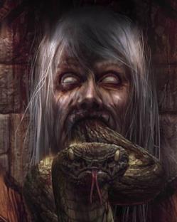 La copertina di Harry Potter e i Doni della Morte in versione horror