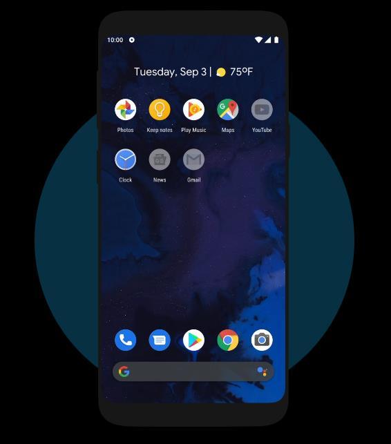 Immagine promozionale della funzione Focus Mode di Android 10