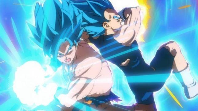 Goku e Vegeta Super Saiyan Blue nle film Broly