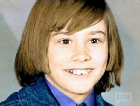 Jim Carrey da bambino che sorride