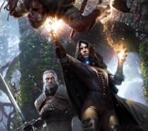 Geralt e Yennefer in un artwork ufficiale di The Witcher 3