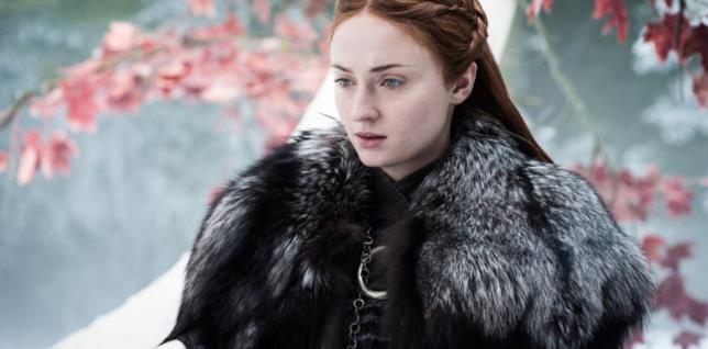 Sansa Stark di Game of Thrones, interpretata da Sophie Turner