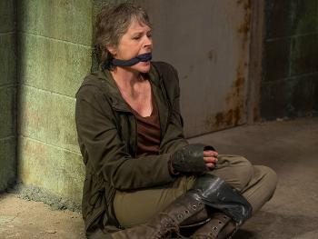 Una scena dell'episodio 6x13 di The Walking Dead