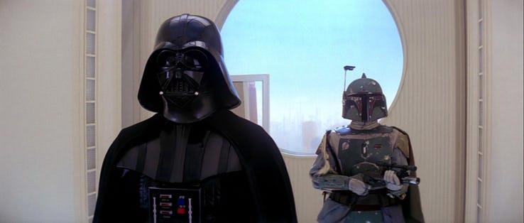 Immagine di Darth Vader su Bespin