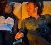 Rick e Michonne intimi su The Walking Dead