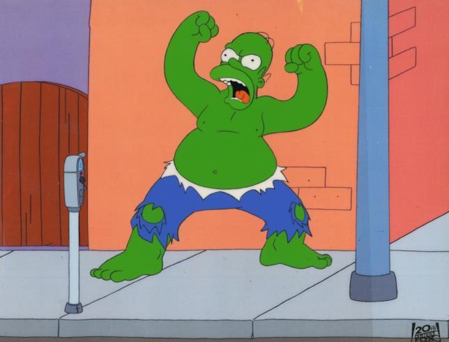 Una scena di Papà Incacchiato da I Simpson