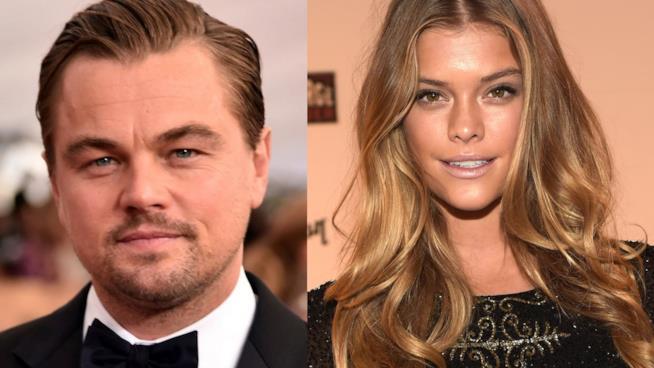 Primo piano di Leonardo DiCaprio e Nina Agdal