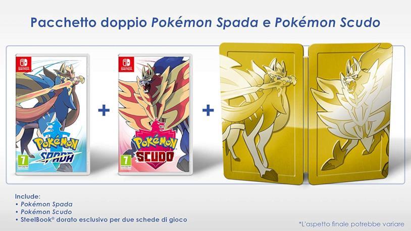 Un'immagine rappresentativa della Steelbook di Pokémon Spada e Scudo